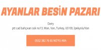 AYANLAR BESİN PAZARI - Firmabak.com